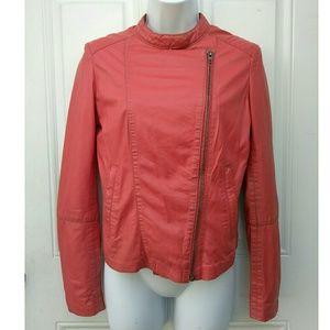 Muubaa Coral Leather Moto Jacket